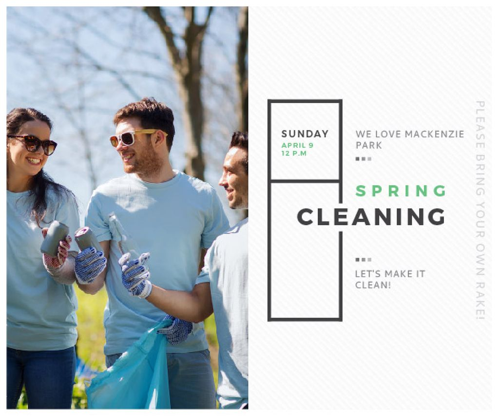 Spring Cleaning in Mackenzie park — Crea un design