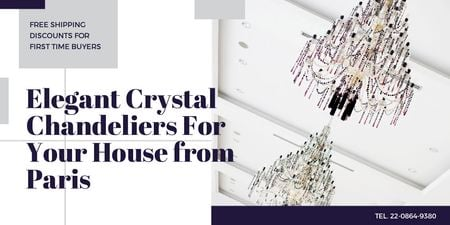 Elegant crystal chandeliers from Paris Twitter Modelo de Design