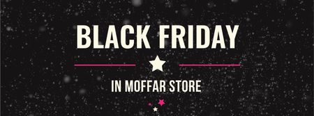 Black Friday Sale on glitter Facebook cover Design Template