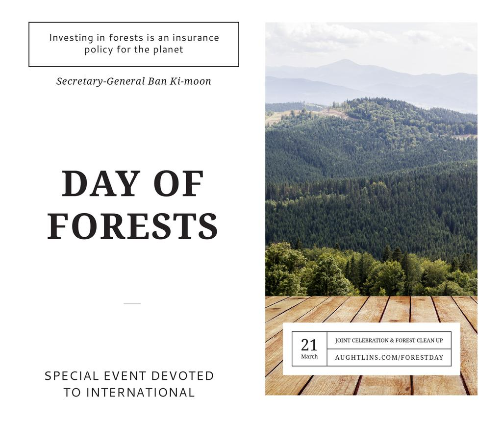International Day of Forests Event Scenic Mountains | Facebook Post Template — Crea un design