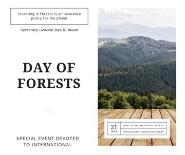 International Day of Forests Event Scenic Mountains | Facebook Post Template