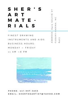 Art materials shop Ad