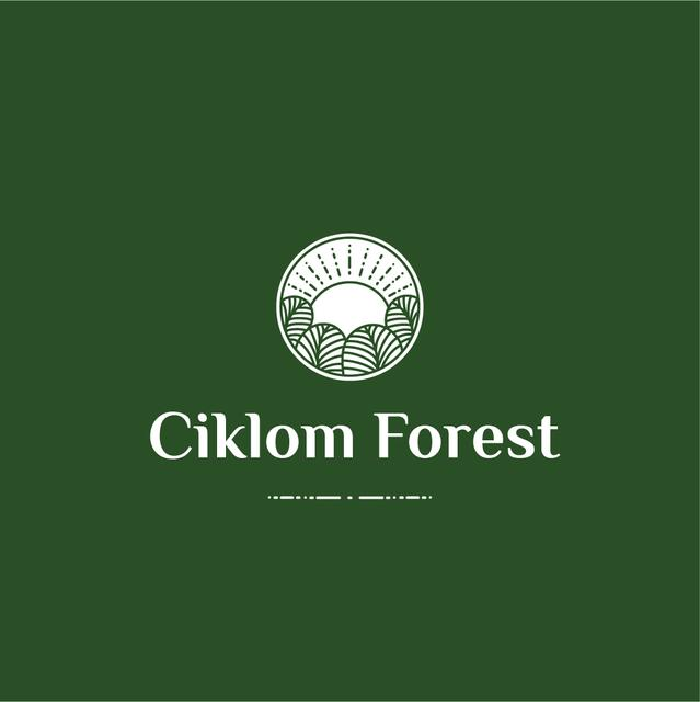 Trees in Forest Green Icon Logo Modelo de Design