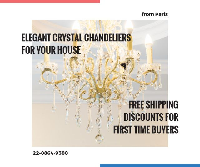 Elegant crystal chandeliers shop Medium Rectangle Tasarım Şablonu