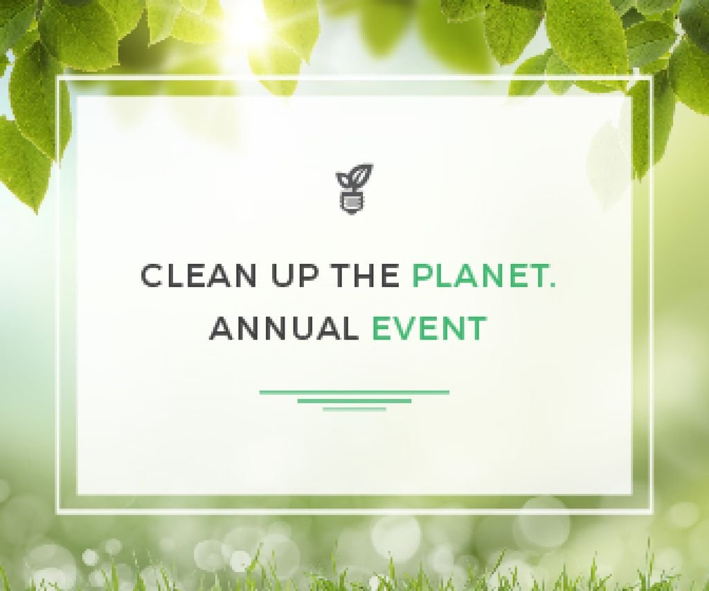 Clean up the Planet Annual event — Crear un diseño