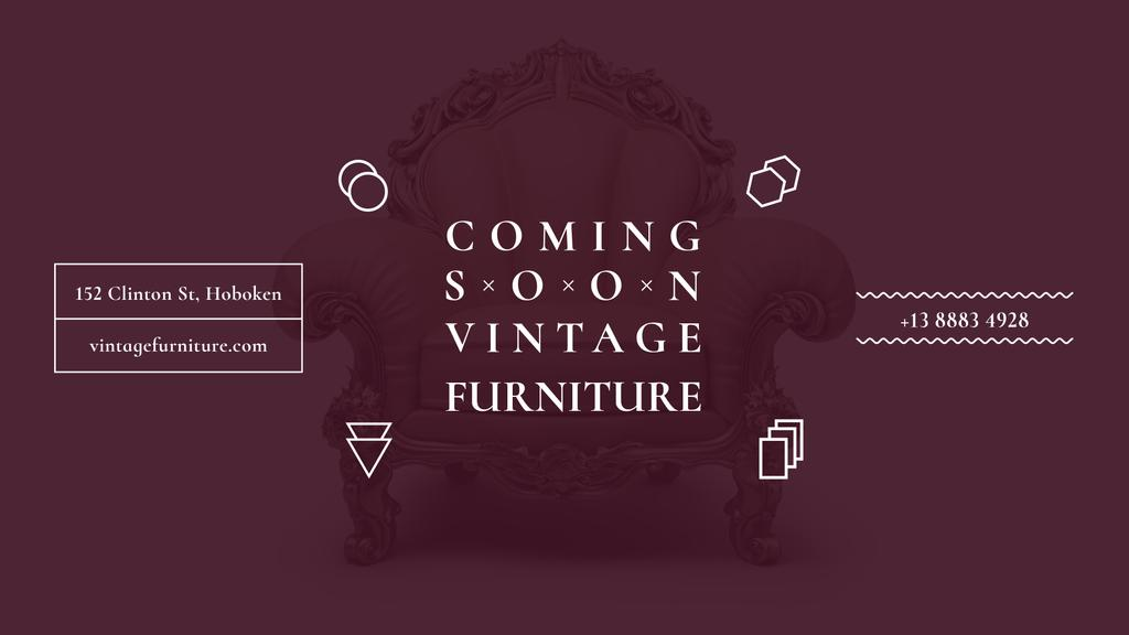 Coming soon vintage furniture shop — Crea un design