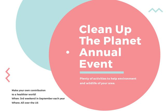 Ontwerpsjabloon van Gift Certificate van Clean up the Planet Annual event