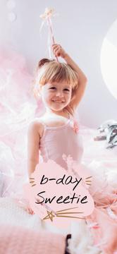 Cute Girl celebrating Birthday