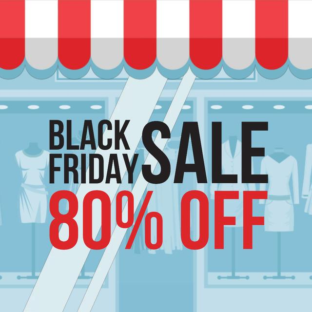 Black Friday Offer with Showcase in Blue Animated Postデザインテンプレート