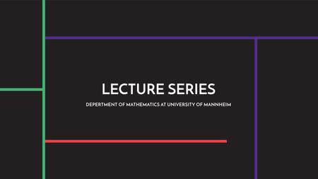 Lecture series of mathematics Ad Youtube Modelo de Design