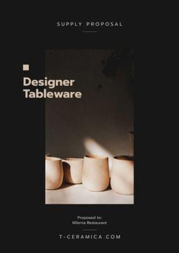Ceramic Tableware supply offer — Crear un diseño