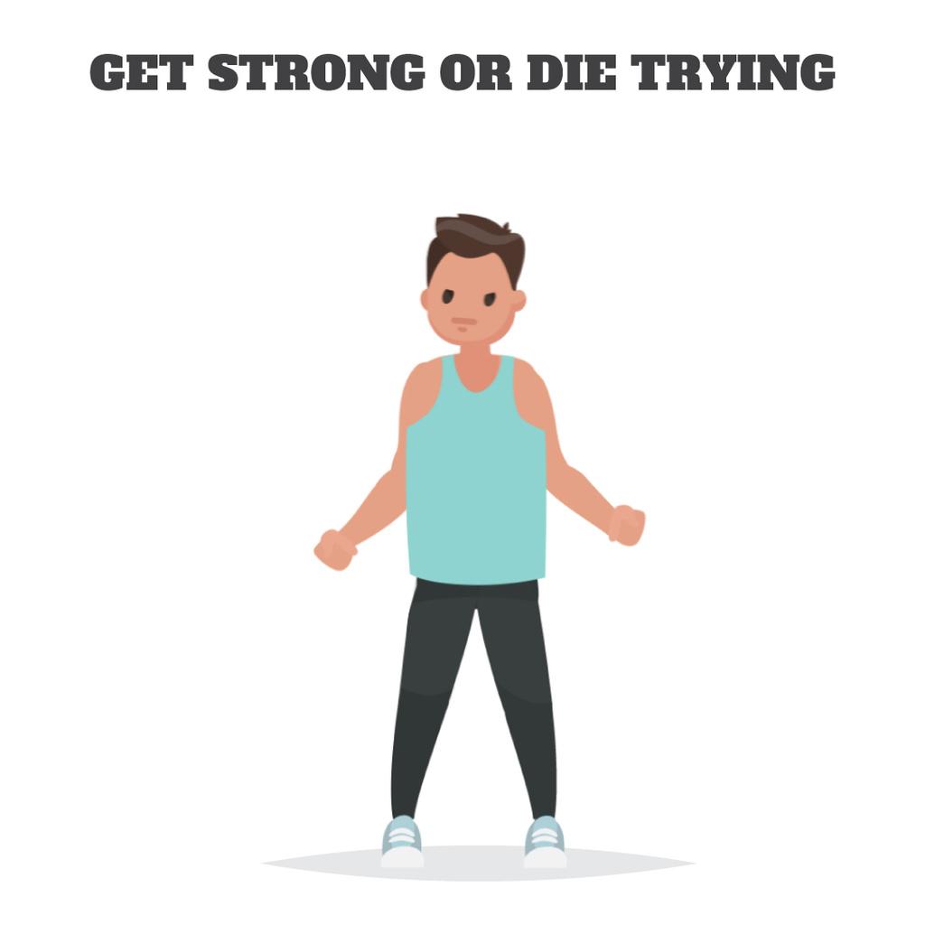Man exercising in gym — Create a Design