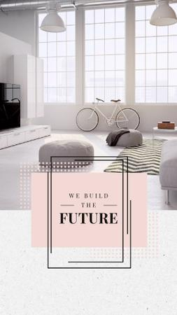 Cozy Home Interior Design in White Instagram Video Story Design Template