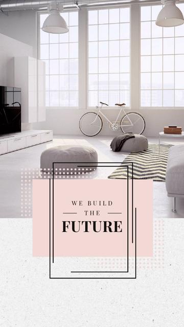 Designvorlage Cozy Home Interior Design in White für Instagram Video Story
