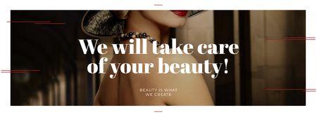 Designvorlage Citation about care of beauty für Facebook cover