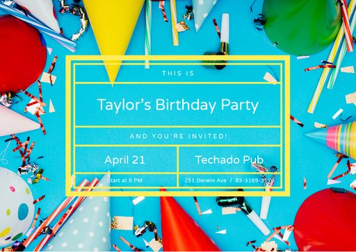 Birthday Party Invitation Celebration Attributes
