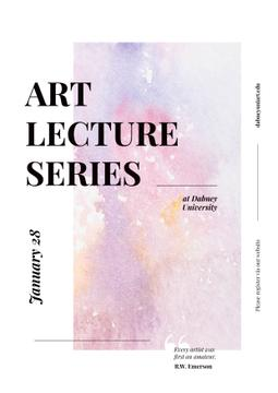 Art Lectures Announcement with Colorful Paint Pattern
