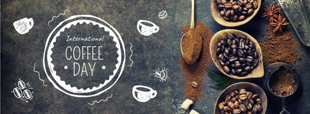 Coffee beans and spices — Create a Design