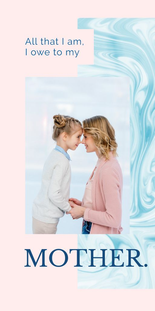 Happy mother with her daughter — Crear un diseño