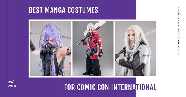 Comic Con International event Facebook AD Modelo de Design