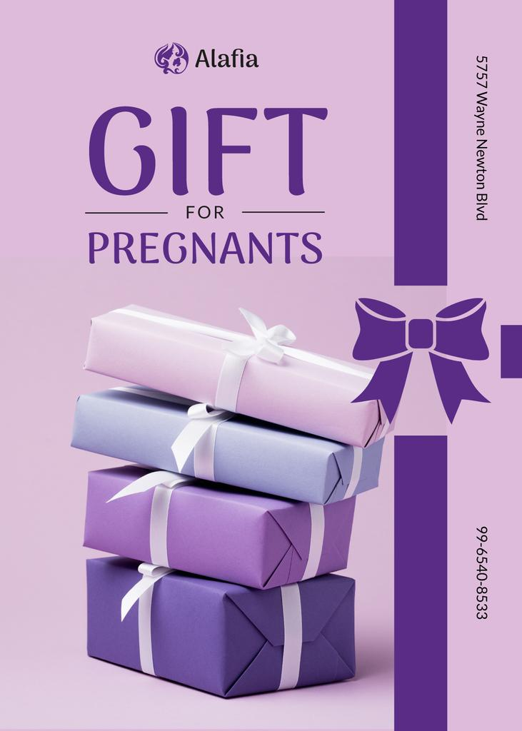 Gift for Pregnant Offer Present Boxes with Bows — Create a Design
