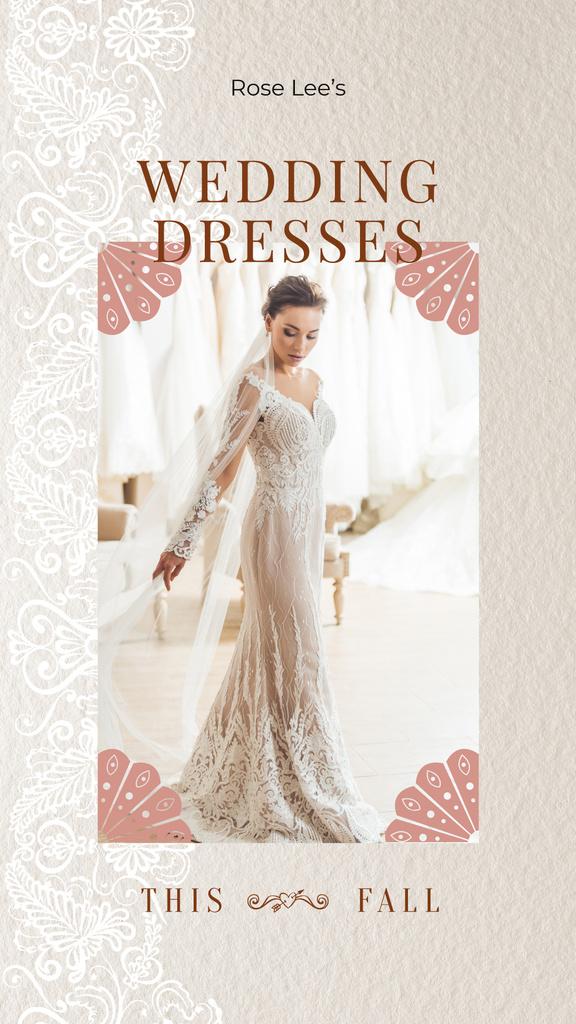 Wedding Dresses Store Ad Bride in White Dress — Maak een ontwerp