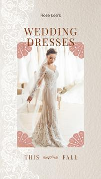 Wedding Dresses Store Ad Bride in White Dress