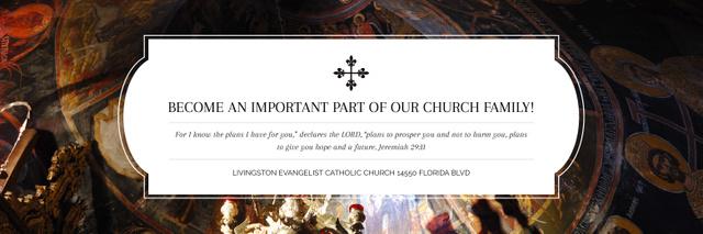 Plantilla de diseño de Livingston Evangelist Catholic Church Twitter