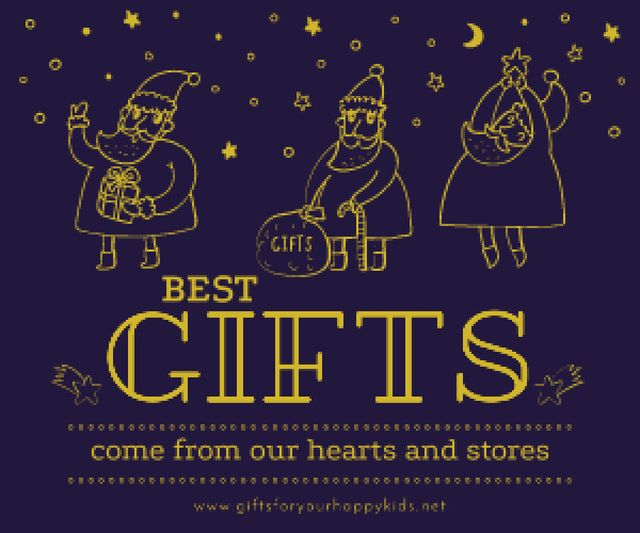 Modèle de visuel Merry Christmas card - Medium Rectangle
