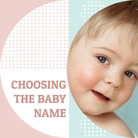Plantilla de diseño de Baby Name concept with Happy little kid Instagram AD