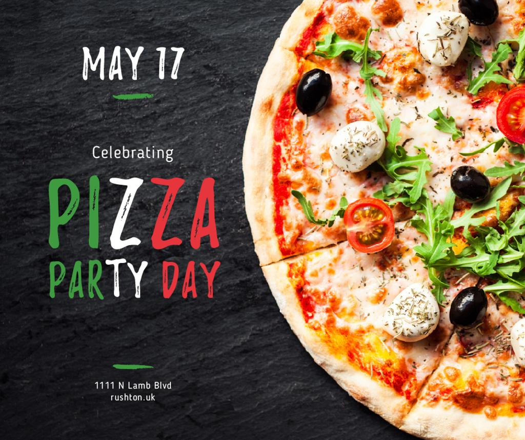 Pizza Party Day celebrating food — Створити дизайн