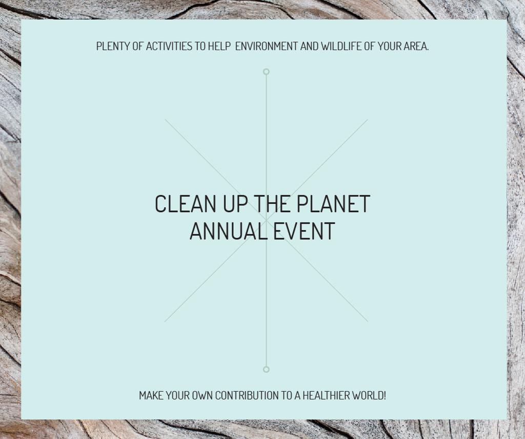 Clean up the Planet Annual event — Créer un visuel