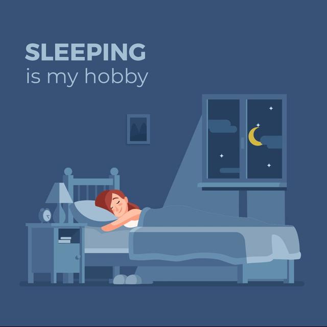 Girl sleeping day and night Animated Post – шаблон для дизайна