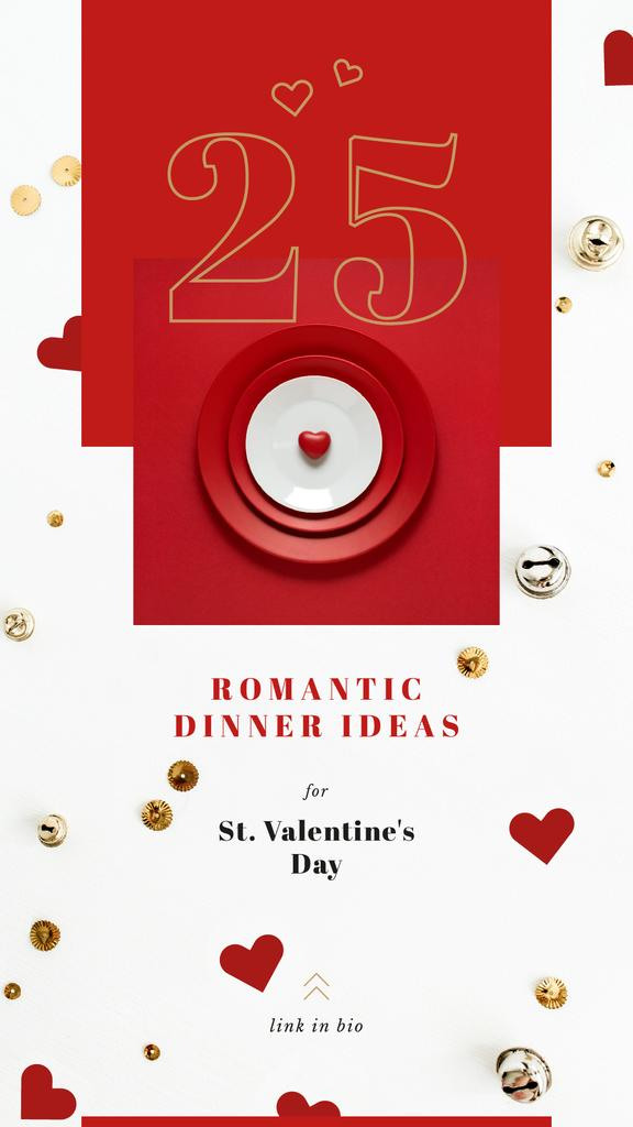 Valentines Day Festive table setting  — ein Design erstellen