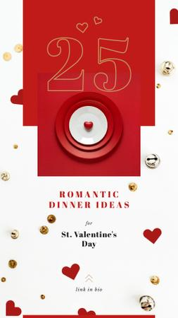 Template di design Valentines Day Festive table setting Instagram Story