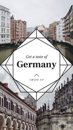 Designvorlage Special Tour Offer to Germany für Instagram Story