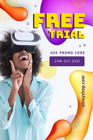 Template di design Girl using vr glasses Pinterest