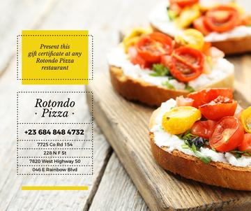 Pizza restaurant promotion with Italian dish