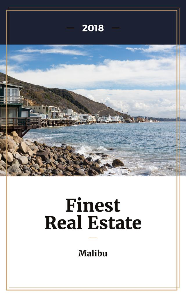 Real Estate Offer Houses at Sea Coastline — Створити дизайн