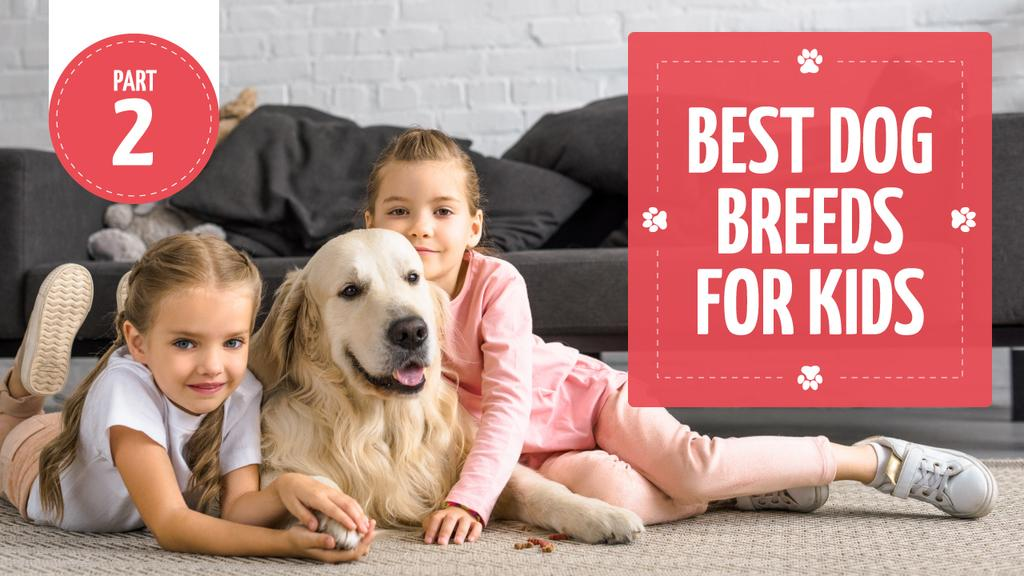Dog Breeds Guide Kids with Labrador  — Créer un visuel