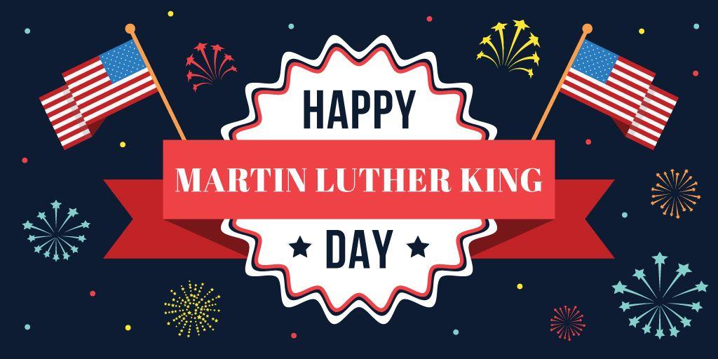 Martin Luther King day Greeting Twitter Modelo de Design
