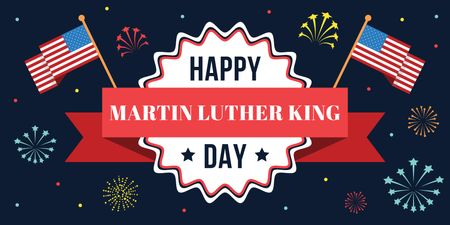 Martin Luther King day Greeting Twitter Design Template