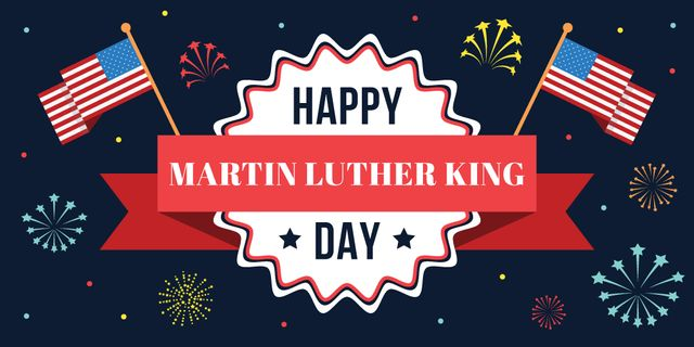 Plantilla de diseño de Martin Luther King day Greeting Twitter