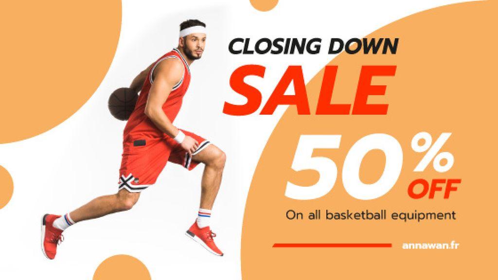 Sports Offer Basketball Player — Maak een ontwerp