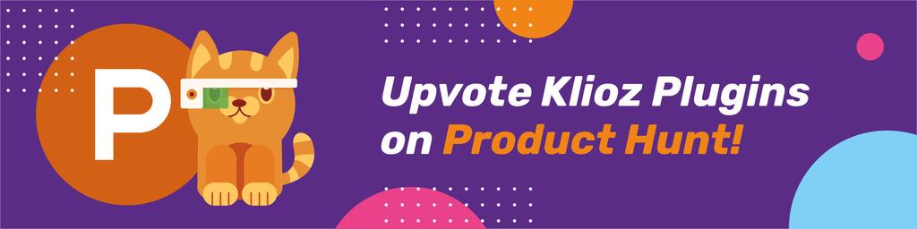 Plantilla de diseño de Product Hunt Campaign Launch with Cat Logo Web Banner