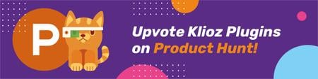 Product Hunt Campaign Launch with Cat Logo Web Banner Modelo de Design
