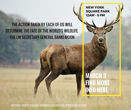 Ontwerpsjabloon van Facebook van Eco Event announcement with Wild Deer