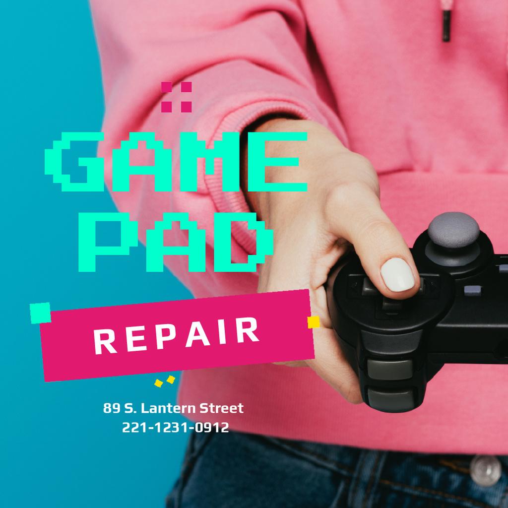 Girl holding joystick — Crea un design