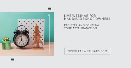 Ontwerpsjabloon van Facebook AD van Live webinar for handmade shop owners