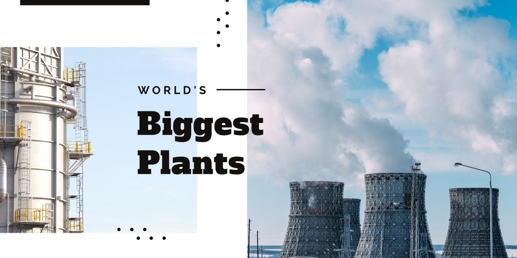 Industrial plant with chimneys — Modelo de projeto